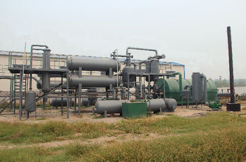 10t low price waste plastic to oil plant