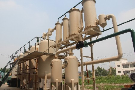 Small waste oil distillation line