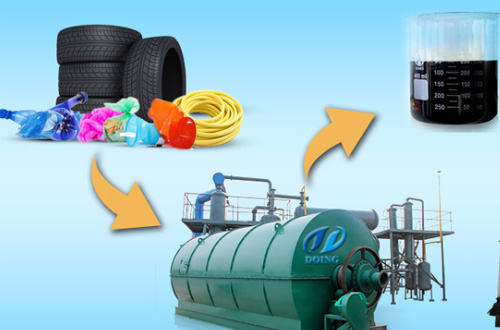 Waste tyre pyrolysis plant installation video