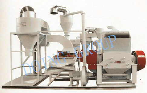Aluminum composite panel recycling machine