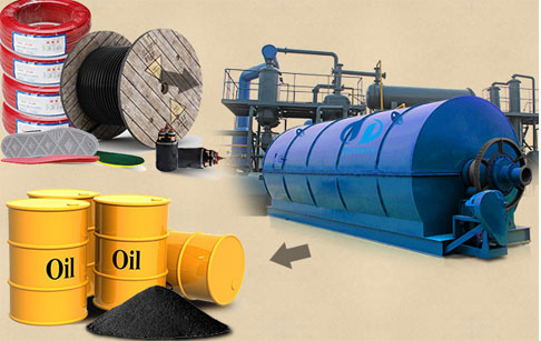 Waste rubber to oil recycling process machine