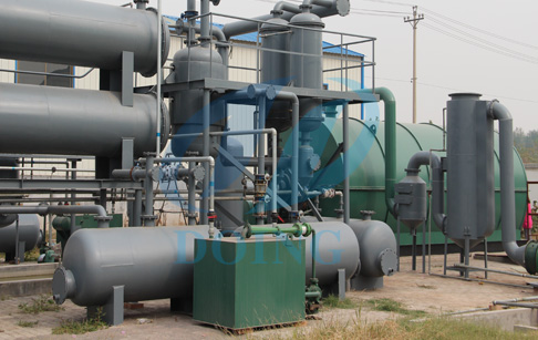 Tyre recycling use of tyre pyrolysis oil plant