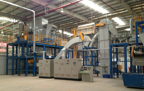 Waste electric appliance recycling plant