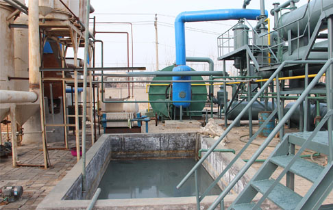 How does the tyre pyrolysis plant work?
