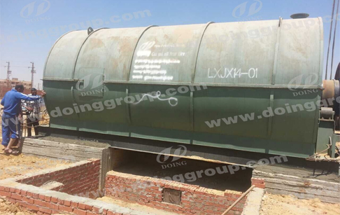 2 sets 10tons pyrolysis plants Installation Site in Egypt