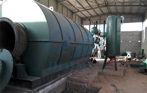 The waste tyre pyrolysis plant Installation in Egypt