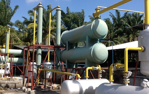 The pyrolysis machine installation in Malaysia