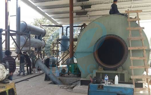 Tyre to oil recycling process machine in Mexico