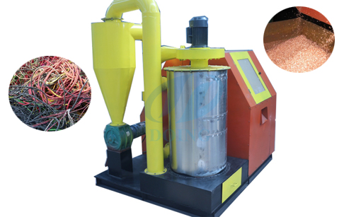 Integrated type scrap copper wire recycling machine video