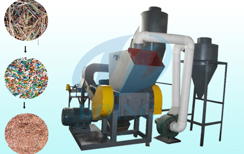What is copper cable crusher and separator applicable raw material?