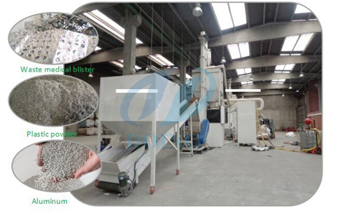 Scrap aluminum separation recycling machine