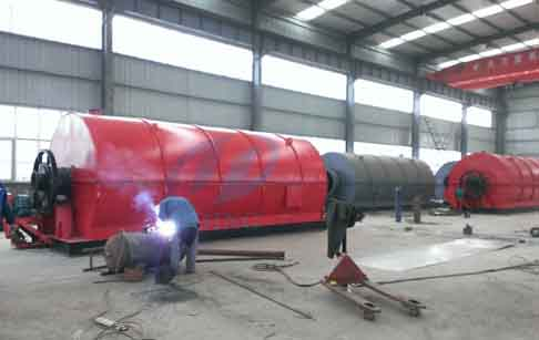 Scrap tire derived fuel pyrolysis plant