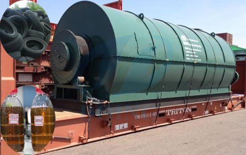 6/8/10T capacity waste tyre pyrolysis plant
