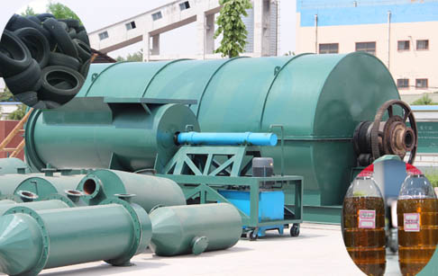 Low investment waste tyre pyrolysis to oil machine