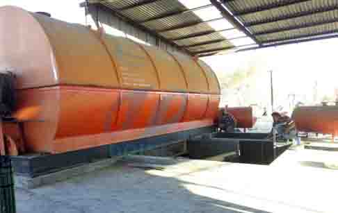 10T waste tyre pyrolysis plant installed in Monterrey, Mexico