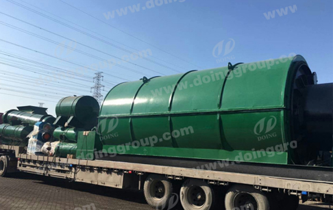 Newest waste tyre recycling pyroysis plant delivery to Nigeria
