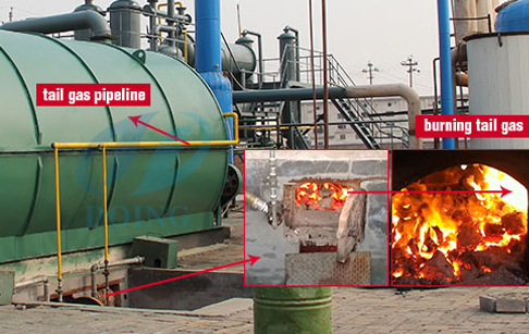 What is used for fueling the pyrolysis plant?