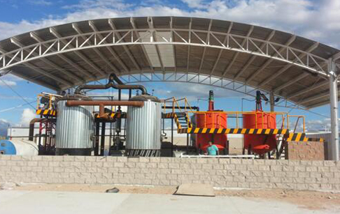 Pyrolysis plastic to oil refining process plant