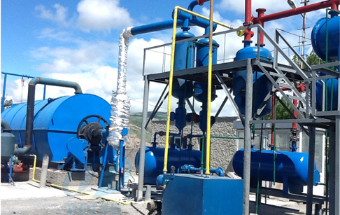 Georgia tire recycling pyrolysis plant sucessfully installed