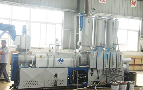 Pyrolysis plastic to diesel plant demo that processing plastic to diesel and gasoline