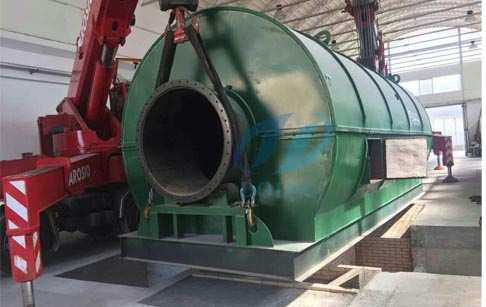 Italy successful installed  waste tyre to fuel oil pyrolysis plant