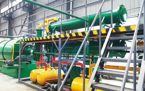 Waste plastic recycling pyrolysis plant