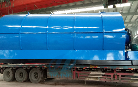 Waste tyre recycling pyrolysis plant delivered to Czech