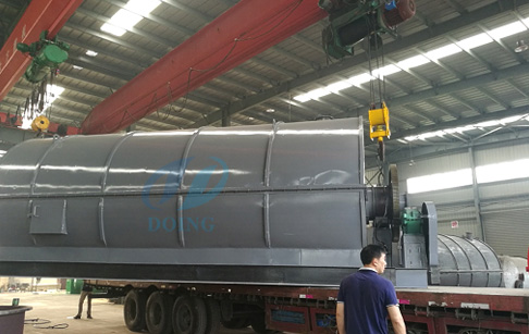 10T/D waste tyre pyrolysis plant delivered to Philippines