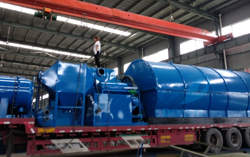 2 sets 10 ton waste tyre pyrolysis plant delivered to Dali County,Yunnan Provice