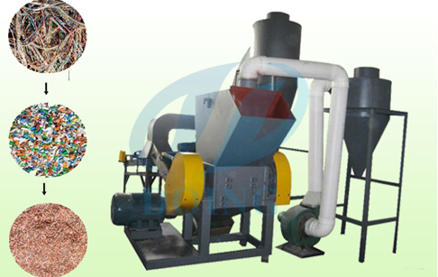 Scrap copper wire recycling machine