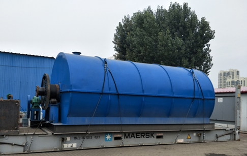 10ton waste tyre pyrolysis plant delivery to Ukraine customer