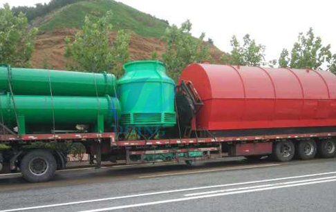 Two sets 10T waste tyre Pyrolysis plant for Egypt customer finished delivery