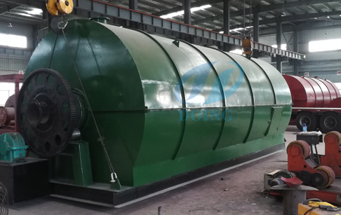 Frameset design waste tyre to fuel oil pyrolysis plant delivered to Panama