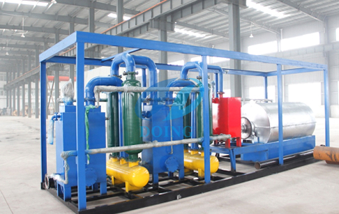 Pyrolysis system for waste tyre/plastic