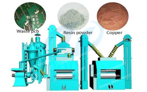 PCB board  recycling machine in customer's factory