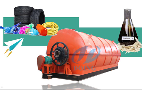How does pyrolysis of rubber tyre to oil ?