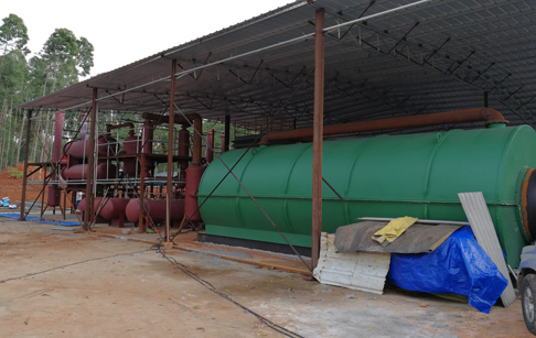 3 sets 10T/D waste tyre pyrolysis plant have finished installation yesterday ,in Zhanjiang city, Guan