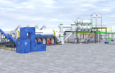 What is fuel oil application of continuous fully automatic waste tyre pyrolysis plant?