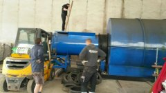 Czech customer's  10 tons of oil pyrolysis plant finished installation