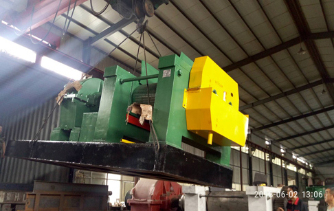 Kazakhstan customers one set waste tire recycling to rubber powder machine was shipped yesterday