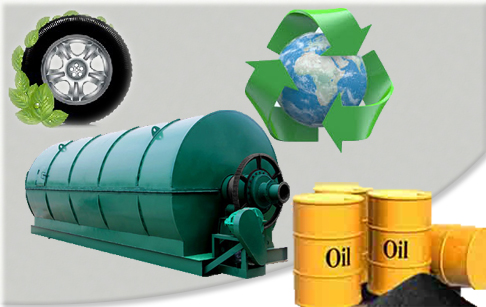 12T pyrolysis plant recycling waste tires to fuel oil