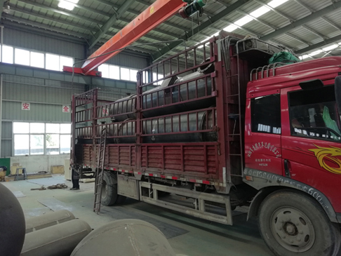 One set of 10T waste tire pyrolysis plant delivered to Anhui Province, Bengbu City
