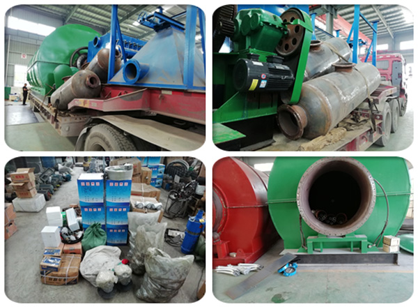 Hebei customer's waste tire pyrolysis plant parts