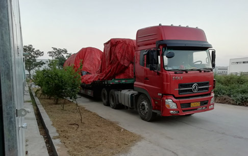 2 sets 12T/D waste tire pyrolysis plant delivered to Inner Mongolia