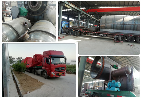 Tire pyrolysis plant parts