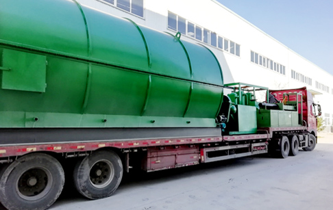 12T/D tyre to oil pyrolysis plant delivered to India