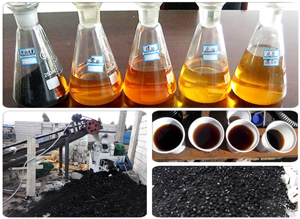 final products of pyrolysis plant