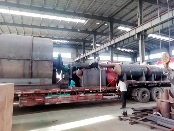 tyre pyrolysis plant delivered