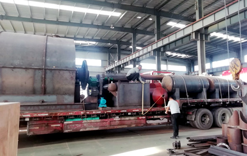 One set 10T/D tyre pyrolysis plant delivered to Hebei Province, China