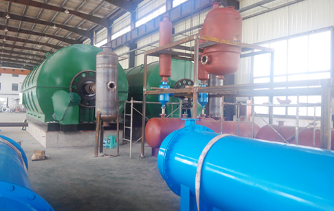 2 sets 12T/D waste tyre recycling pyrolysis plant successfully installed in Jiangsu, China